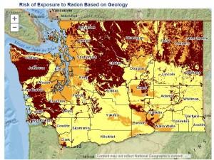 Radon risk in Washington State